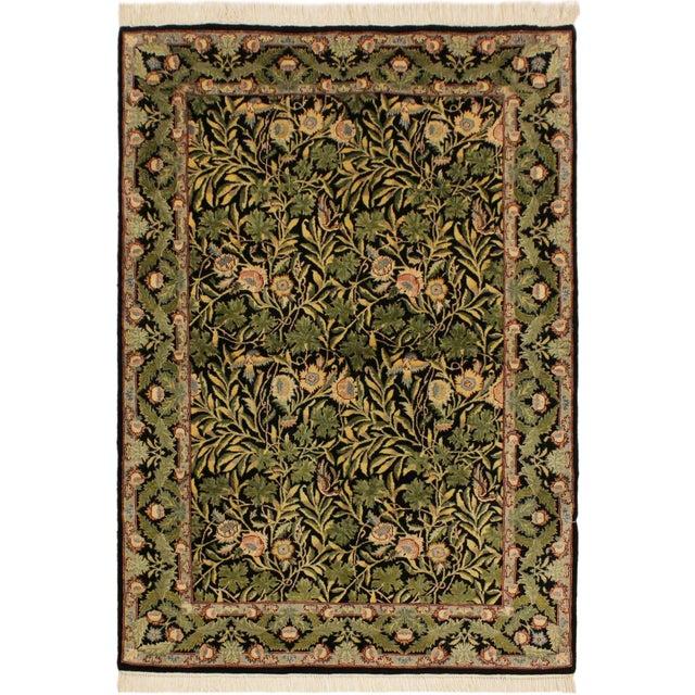 Blue Imran Pak-Persian Danette Black/Green Wool Rug - 4'1 X 6'0 For Sale - Image 8 of 8