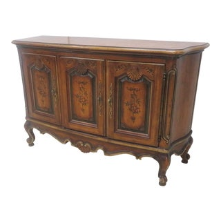 Drexel French Provincial Decorated Credenza For Sale