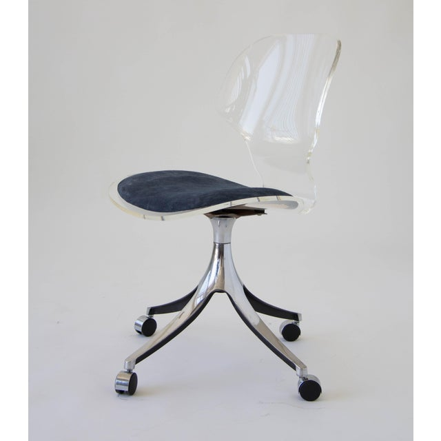 Hill Manufacturing Co. Lucite Rolling Desk Chair - Image 5 of 9