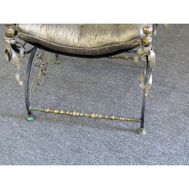 French Antique Regency Style Iron Bench For Sale - Image 3 of 6