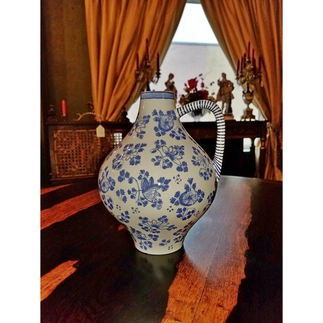 Early 19c French Utzschneider & Cie Sarreguemines Pitcher For Sale - Image 10 of 11