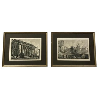18th Century Italian Piranesi Engravings - a Pair For Sale