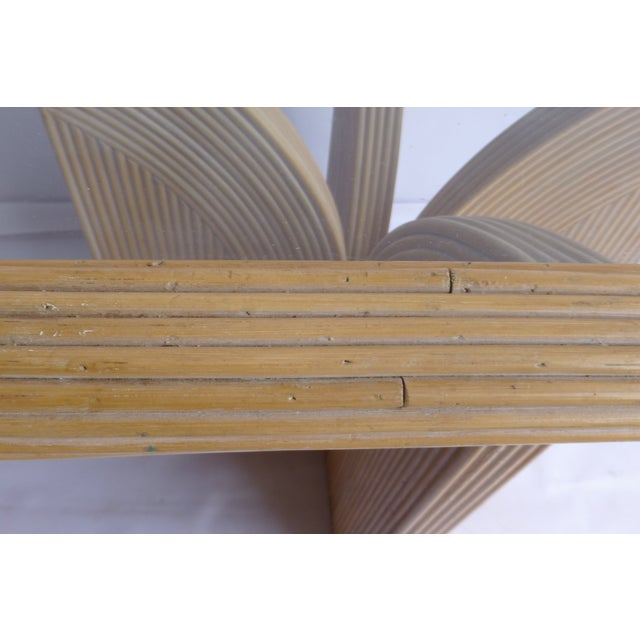 Mid-Century Modern Split Reed Table - Image 6 of 9