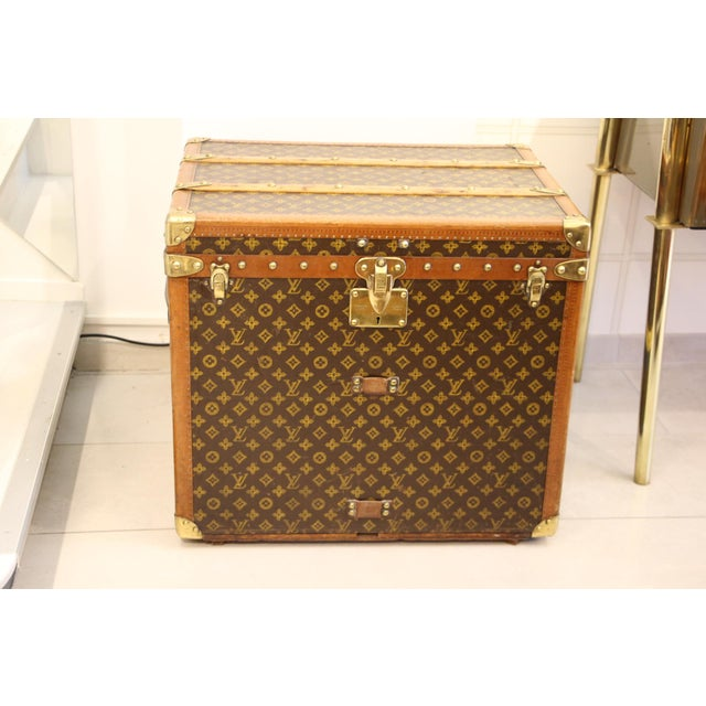 Animal Skin Louis Vuitton Monogram Steamer Trunk For Sale - Image 7 of 12