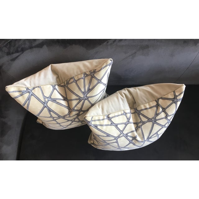 Pair of Pillows in Holly Hunt Tangled: Silver Streak fabric from the Great Performers Collection. Each meticulously made...