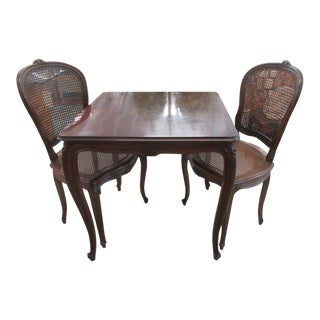 Game Table & Chair Set- 3 Pieces For Sale