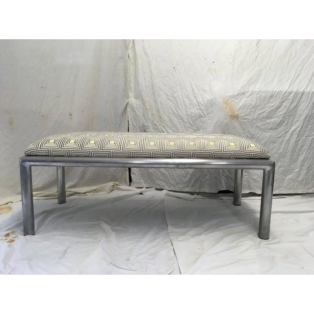 Aluminum Midcentury Aluminum Bench For Sale - Image 7 of 8