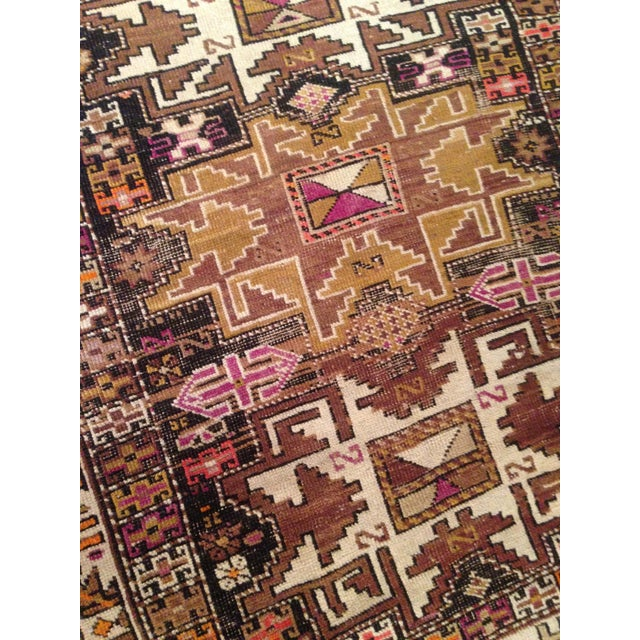"Funky 1920s Russian Area Rug, 3'6"" X 4'9"" - Image 8 of 10"