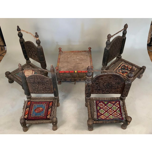 Brown 19th Century Tribal Bedouin Chairs - Set of 4 For Sale - Image 8 of 12