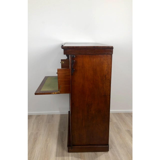 Wellington Secretary Chest of Drawers, England Circa 1840 For Sale - Image 4 of 11