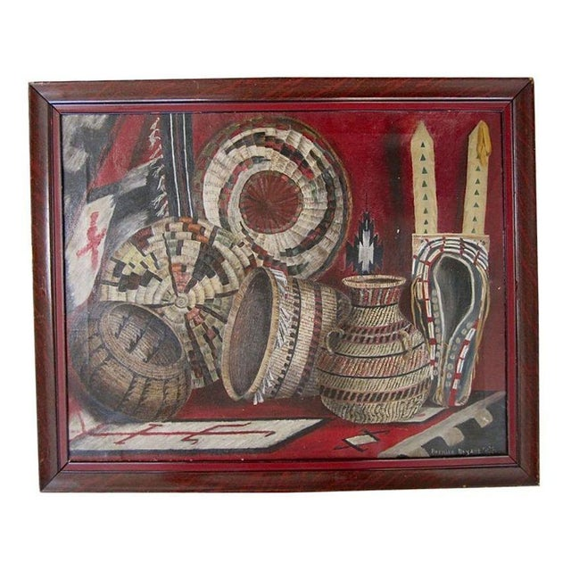 Native American Basketry Painting For Sale