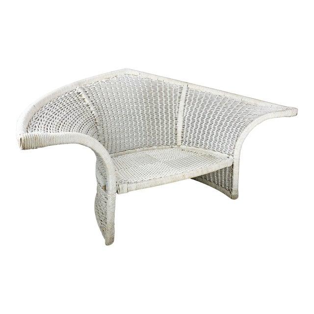 Vintage Rope Bird Lounge Coastal Chair Aft Bertoia For Sale
