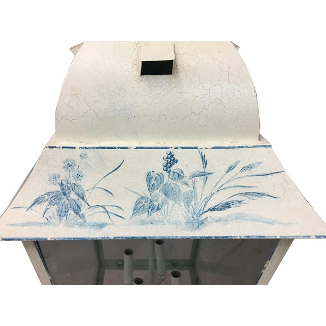 1980s Vintage French Style Hand-Painted Lantern For Sale - Image 5 of 8