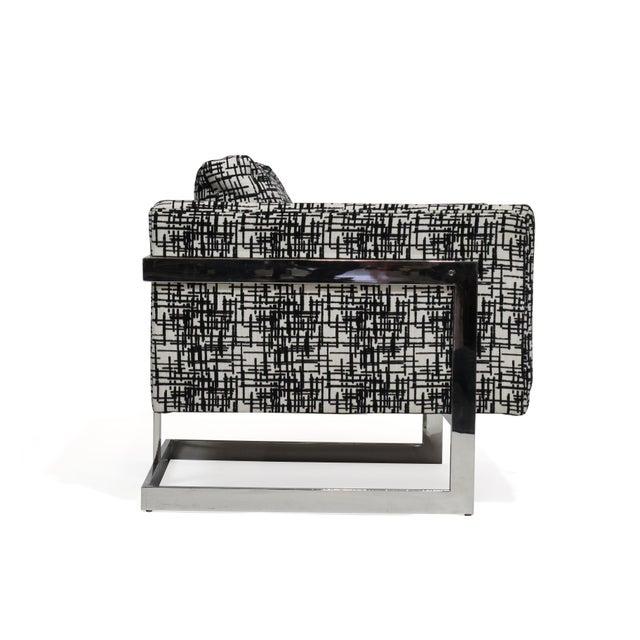 Thayer Coggin Milo Baughman for Thayer Coggin Chrome Lounge Chair For Sale - Image 4 of 10