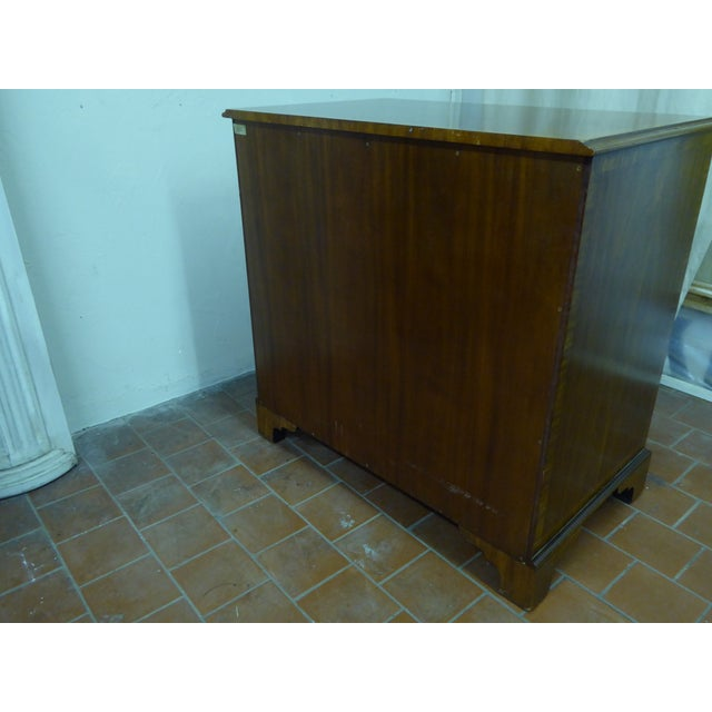 Wood 20th Century Maitland Smith Leather Clad Chest Drawers For Sale - Image 7 of 9