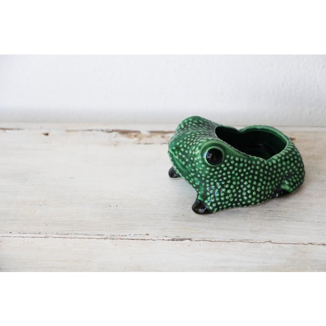 Chinese Vintage Hobnail Frog Planter in the Style of Jean Roger For Sale - Image 11 of 13