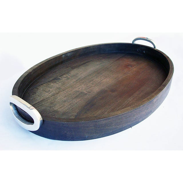 Large Oval Wooden Tray - Image 4 of 5
