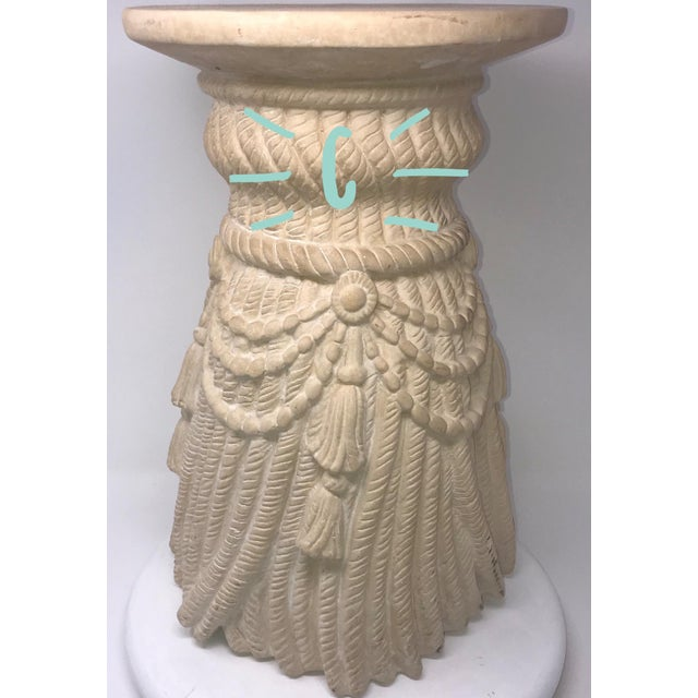 Late 20th Century Hollywood Regency Tassel Fringe Rope Side Tables- Set of 4 For Sale In Miami - Image 6 of 10