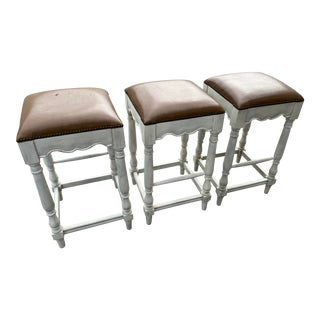 Ballards Design Counter Stools - Set of 3 For Sale