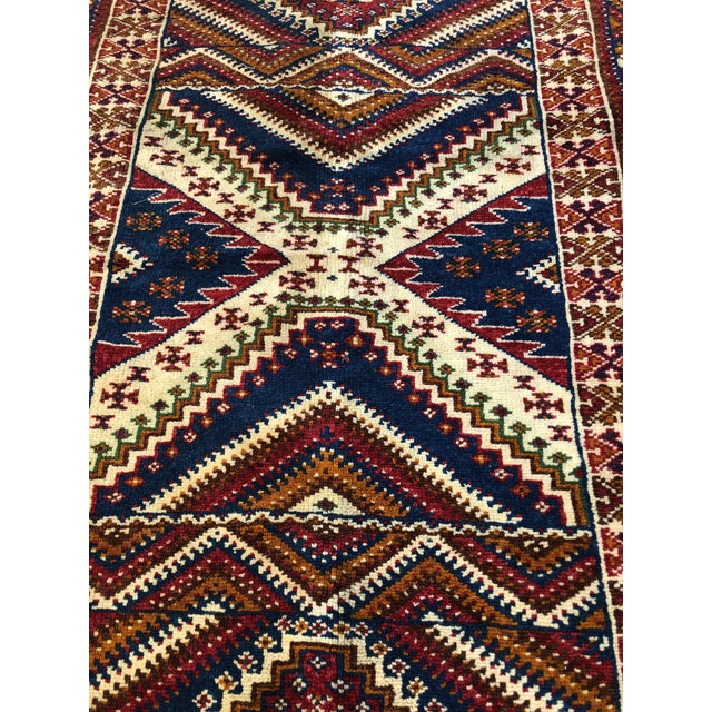 Beautiful vintage moroccan rug, dating back to the 1950's and in such good condition for its age. The colors are so vivid,...