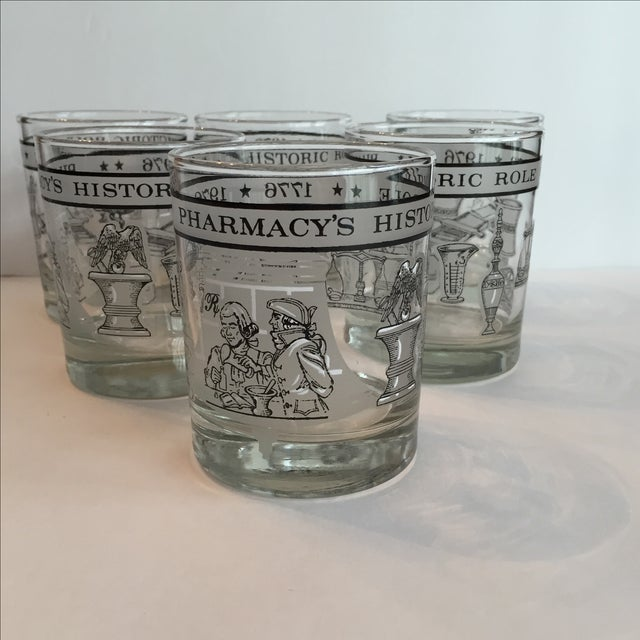 Pharmacy Cocktail Glasses - Set of 6 For Sale - Image 3 of 11