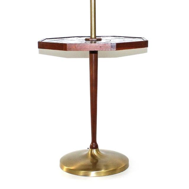 Mid-Century Georges Briard Mosaic Floor Lamp Table - Image 3 of 10