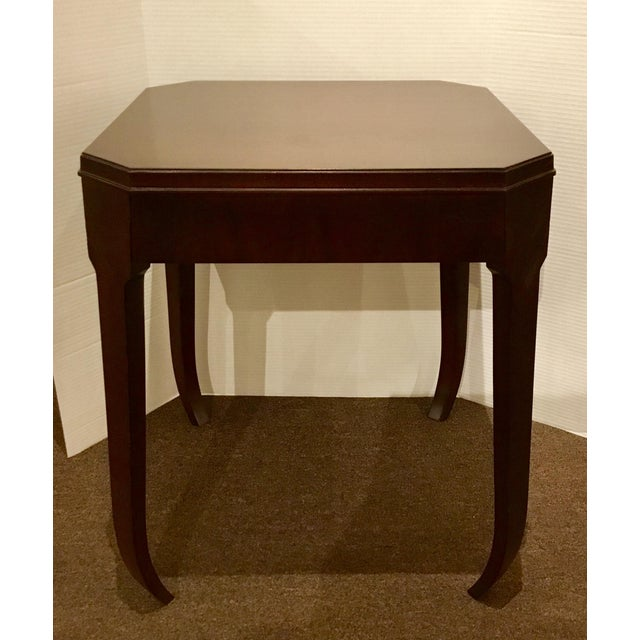 2010s Hickory Chair Modern Wabi Wood Side Table For Sale - Image 5 of 5