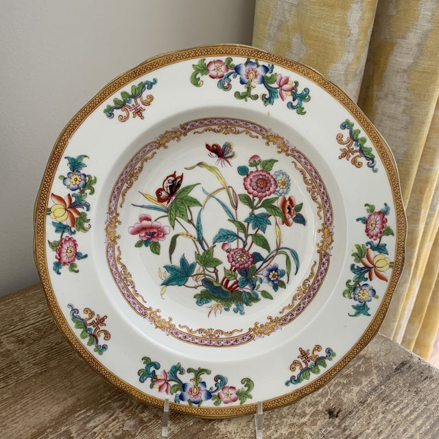Antique English Minton Chinoiserie Shallow Dinner Bowls- Set of 8 For Sale - Image 9 of 11
