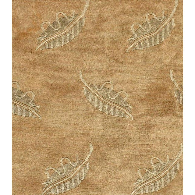 Contemporary Modern Brown Hand Knotted Rug - 4' X 6' For Sale - Image 4 of 5