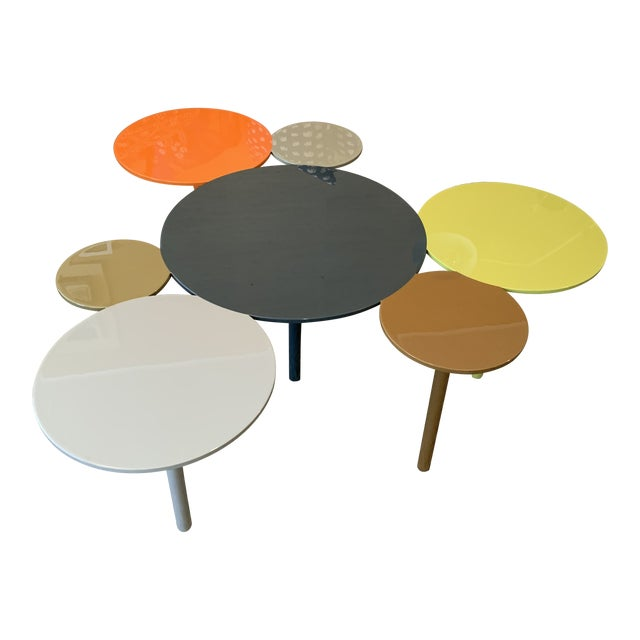 Modern Painted Metal Coffee Table For Sale
