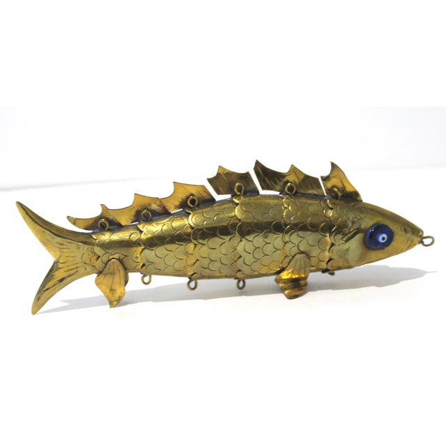 Mid-Century Modern Articulated Fish Sculpture From Malta For Sale In West Palm - Image 6 of 13