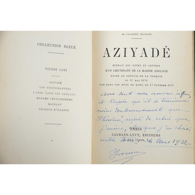 """French """"Aziyade"""" Book by Pierre Loti, 1925 For Sale - Image 3 of 7"""