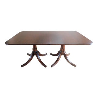 Grosfeld House Mid-Century Mahogany Dining Room Table/2 Leaves For Sale