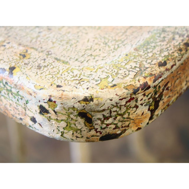 This retro outdoor vintage table is a true winner. We love the patina that only comes with age and a lot of good use!