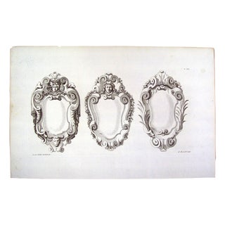 Architectural Ornament Engraving by J. Gibbs, 1728 For Sale