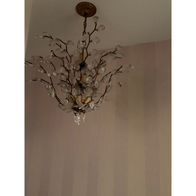 Traditional Crystal Chandelier For Sale - Image 3 of 4