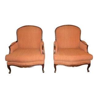 Ethan Allen Bergere Chairs - A Pair