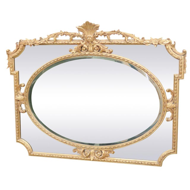 Gilt Beveled Glass Mirror - Image 1 of 6
