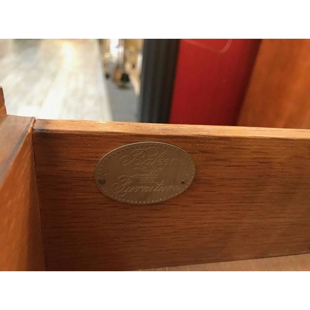 Baker Furniture Burl Walnut Writing Table Desk - Image 9 of 10