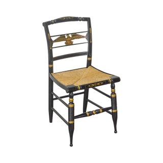 Hitchcock Black & Gold Stenciled Eagle Sheraton Style Side Chair