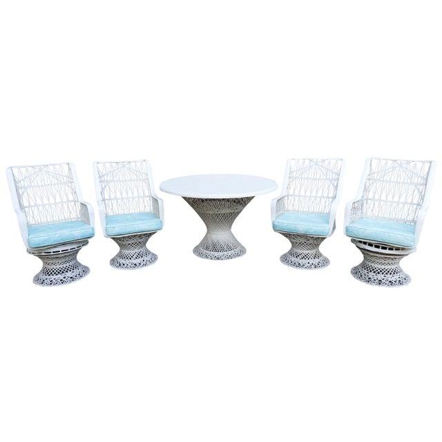 Kravet Upholstered Russell Woodard Spun Fiberglass Patio Dining Set For Sale - Image 13 of 13