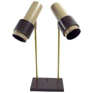 Thurston for Lightolier Two-Light Desk Lamp For Sale