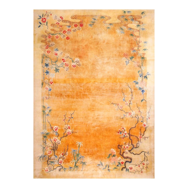Antique Chinese Art Deco Rug-11′6″ × 16′8″ For Sale