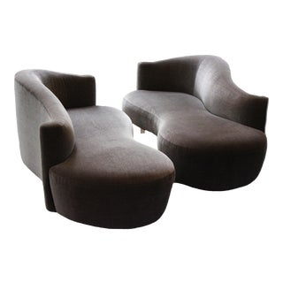 Weiman Furniture Vladimir Kagan Sofas - a Pair For Sale