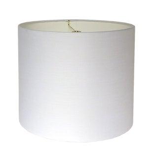 White Linen Lamp Shade For Sale