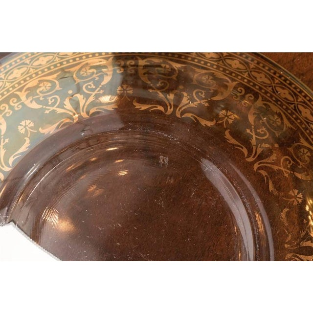 Splendid Set of Six Antique Gilded and Sterling Overlay Glass Dessert Plates For Sale - Image 10 of 11