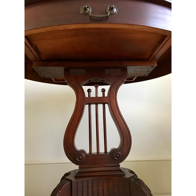 1943 Kimball Harp Table Solid Mahogany For Sale - Image 4 of 11