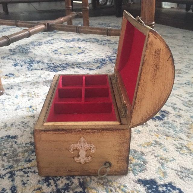 Antique Italian Florentine Gold Music Box Jewelry Box - Image 9 of 11