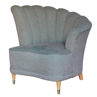 Vintage Scalloped Lounge Chair For Sale