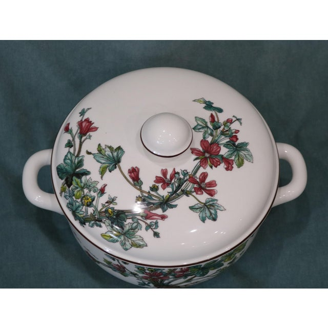"""Villeroy & Boch China Service ware Pattern: Botanica Covered Vegetable Bowl Dimensions: Handle to Handle 10""""; Interior..."""